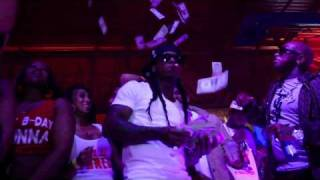 Birdman & Lil Wayne Make It Rain And Celebrate Baby's Birthday Bash At King Of Diamonds Strip Club!