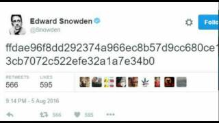 Dead Man's Switch?: Edward Snowden Tweets Cryptic Code, Torrent Sites Taken Down