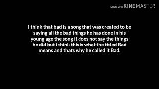 What i think and things i captured in Bad- Xxxtentation