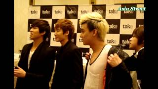 [121031] U-KISS  Eli @ Press conferece in Peru.
