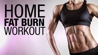 Home Fat Burn Workout (EXHAUSTED WITH JUST 2 EXERCISES!!)
