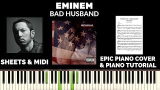 Eminem - Bad Husband feat. X Ambassadors (Piano Cover & Tutorial)