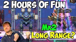 War Robots 2 Hours Maxed Fun: Long Range Spectre Setups WR width=