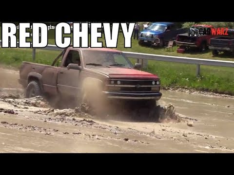 Little Red Chevy Truck Mudding At Lutterloh's Spring Mud Bog