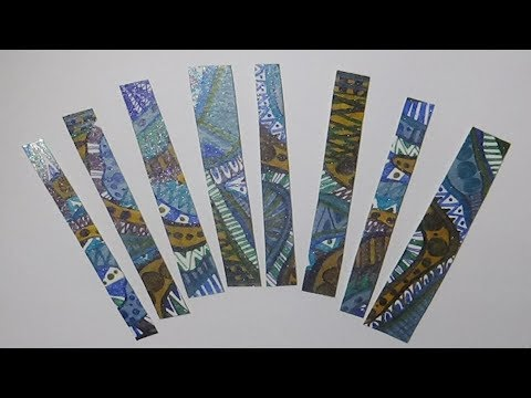 DOODLED Bookmarks DIY CRAFTS Speed DRAWING with Glitter GEL PENS