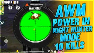 AWM Power - Night Hunter Mode || Garena Free Fire - Desi Gamers