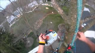Stihl Chainsaw - Fuel Spray