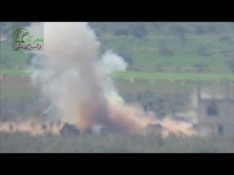 الثوار يستهدفون أكثر من 150 عنصر من حزب الله  في معرزاف بريف حماة
