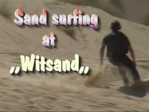 Sand surfing, Witsand.South Africa
