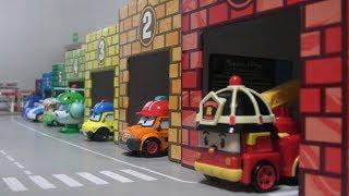 Robocar Poli Color Box Garage Toys  로보카폴리 컬러 주차장 박스 장난감