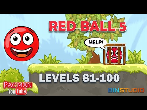 Red Ball 5 Bounce Ball #4  Levels 81 to 100
