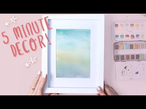 5 MINUTE WATERCOLOR ART: PART 1- Easy Abstract Painting (Beginner Tutorial)
