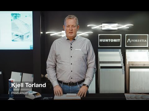 Huntonit Proff Vegg presentert av produktsjef Kjell Torland