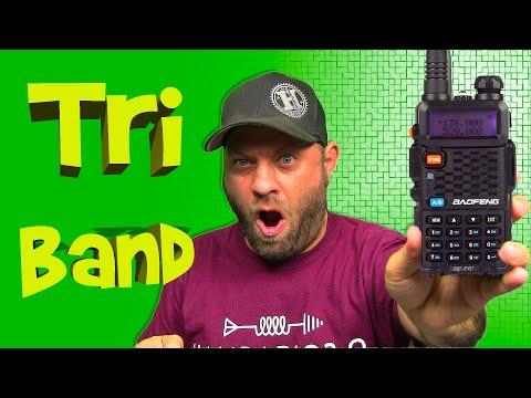 Baofeng BF-F8+ Tri Band HT Radio | Tri Band Ham Radio Handheld