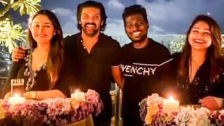 🖤 Atlee's Royal Black Birthday Party.. Arya Sayeesha-வுடன் Priya கொடுத்த மொட்டைமாடி Surprise