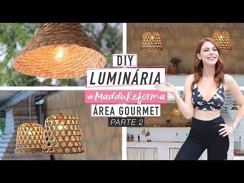 DIY :: Luminárias com Cestos de Palha - Pinterest Inspired #MadduDecor