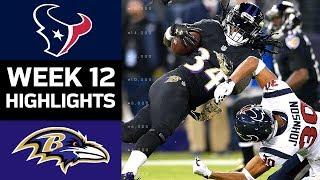 Texans vs. Ravens   NFL Week 12 Game Highlights