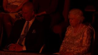 Queen Elizabeth II attends concert for her 92nd birthday