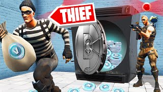 STEALING 25,000,000 V-BUCKS From A FORTNITE BANK!