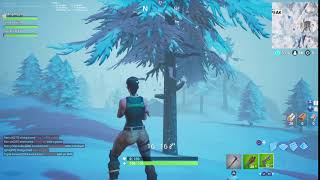 FORTNITE ICE KING CAUGHT ON VIDEO (turns whole map snow!!)