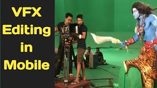 vfx editing in mobile by power director app tutorial/green screen editing by chromakey,