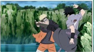 Naruto Uzumaki Vs Uchiha Sasuke Shippuden Finale fight Taijutsu scene [hd]
