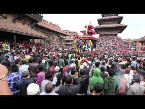 Bisket Jatra (New Year) Festival in Bhaktapur, Nepal