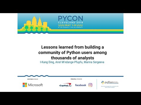 Lessons learned from building a community of Python users among thousands of analysts
