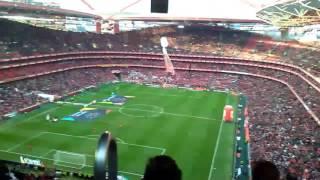 Grande ambiente no estadio da luz Benfica - Tondela