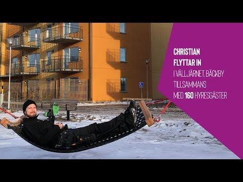 Christian och 160 hyresgäster flyttar in i Välljärnet, Västerås