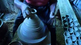 clay oil lamp making