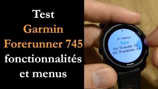 vidéo test Garmin Forerunner 745 par Montre cardio GPS