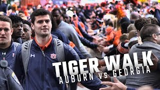 Watch the Auburn Tigers arrive for 'Tiger Walk' before facing the No. 1 Georgia Bulldogs