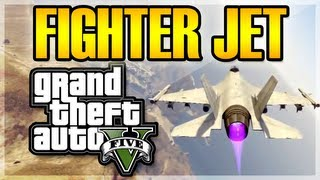 GTA V: How to Get a FIGHTER JET! (Easy Way) - Grand Theft Auto V