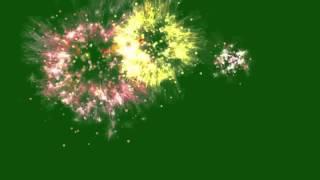 Fogos de Artificio - Fire Works [Fundo Verde - Chroma Key]
