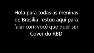 Convite do Cover RBD para meninas