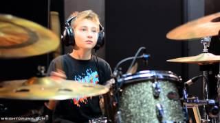 Wright Drum School - Kai Smith - Fall Out Boy - Light Em Up - Drum Cover