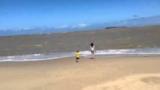 Dudu e Lelê na praia