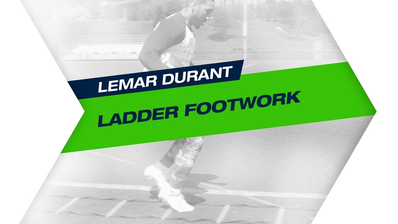 Lemar Durant Ladder Footwork Training