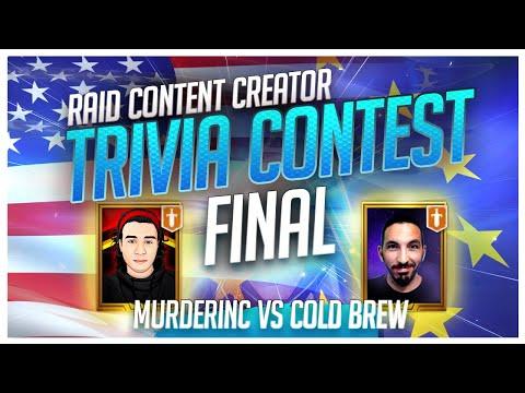 RAID | Trivia Contest | CHAMPIONSHIP | MurderInc vs ColdBrew!