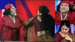 OMG! OM Ji BABA slapped female anchor on live TV | Big Boss 10