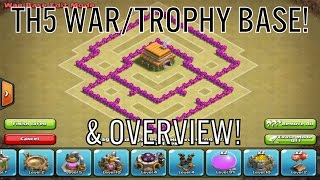 "Clash Of Clans | ""Emerald"" TH5 War/Trophy Base + Overview! 