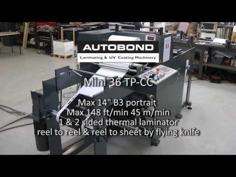 Autobond Mini 36 TP RR + CC 76  - on test for customer in France