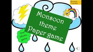 2018-2019 one minute fun paper game for monsoon theme kitty party // rain theme kitty party game
