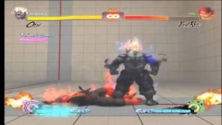 SSF4 AE Oni Akuma super and ultra combo