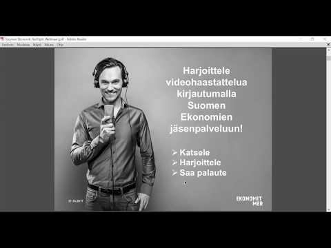 Webinaari: Menesty videohaastattelussa 31.10.2017