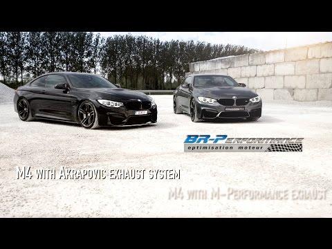 Double BMW M4 Exhaust M/Performance & Akrapovic