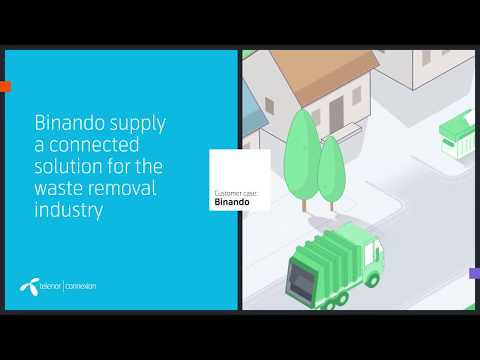 Customer Case: Binando · Connected solutions for waste removal · Telenor Connexion