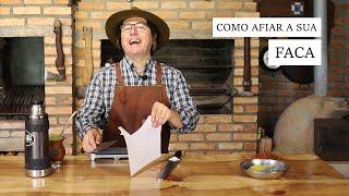 COMO AFIAR A SUA FACA | HOW TO SHARPEN YOUR KNIFE