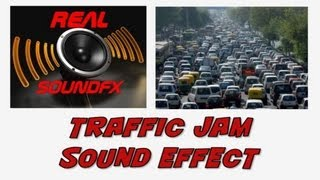 Traffic jam sounds in the city sound effect - realsoundFX